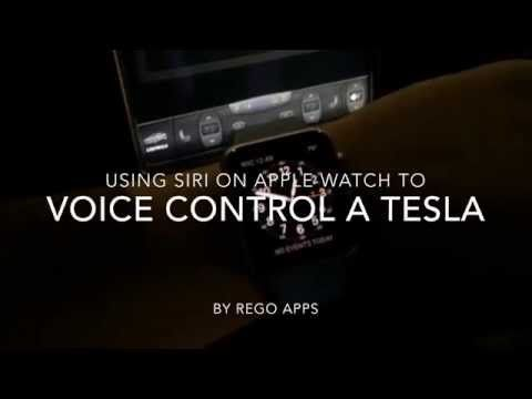 Tesla Model S remotely started using Siri on Apple Watch