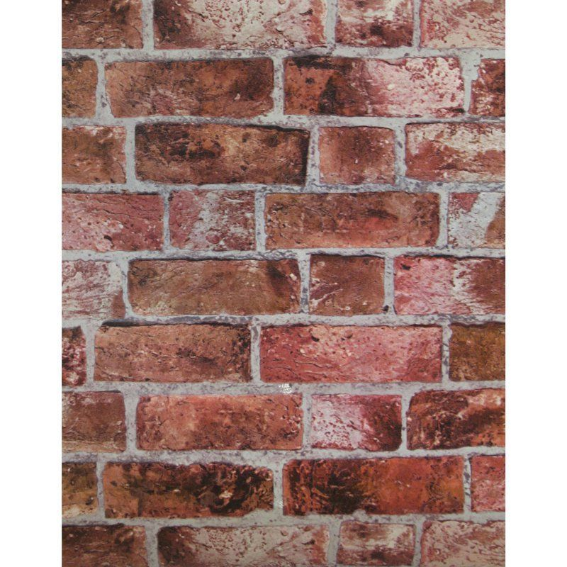 33 ft. Modern Rustic Brick Wallpaper Red HE1044, York
