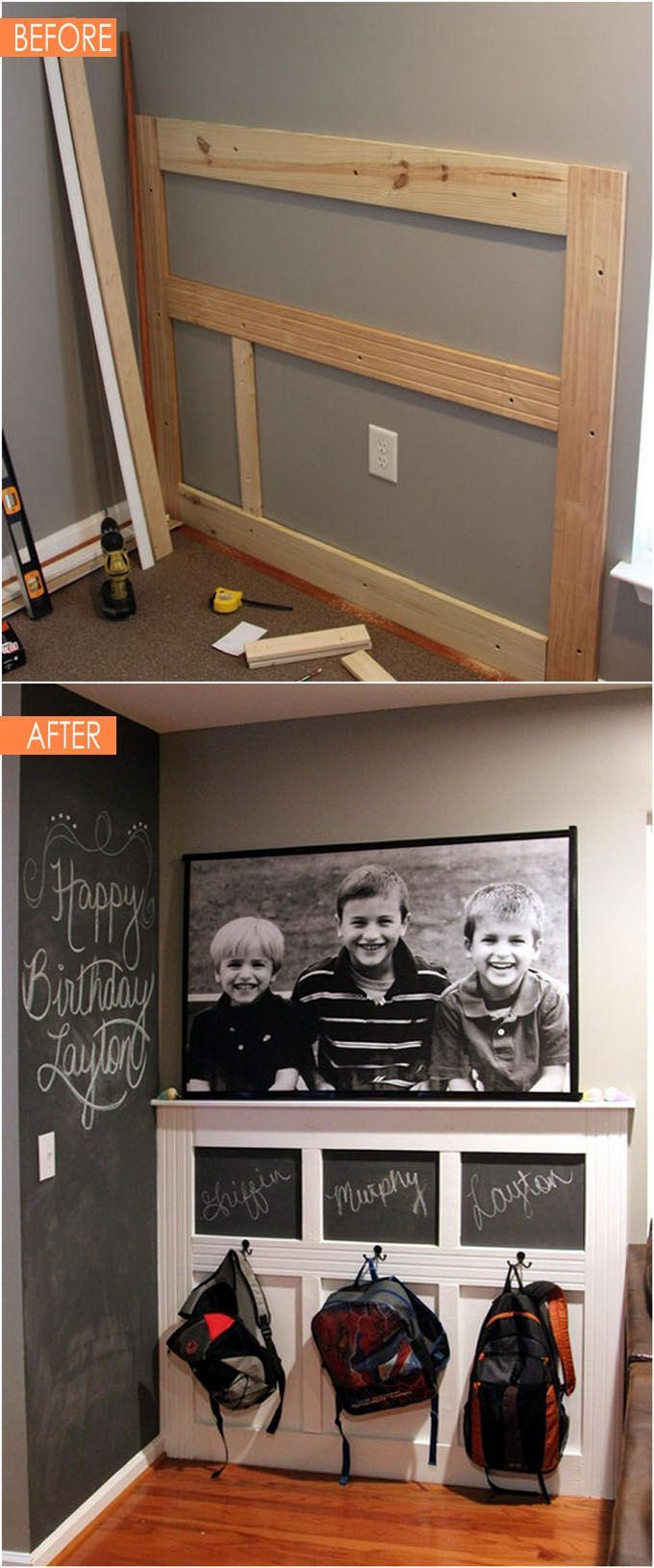 Idee lit escamotable cool Déco Salon - 21 Amazing Before After ...
