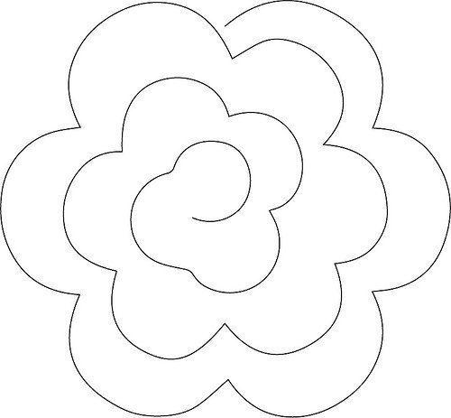 Moldes De Flores De Fieltro Para Imprimir Rosas De