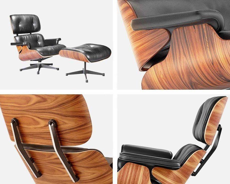 Eames Lounge Chair Vitra Black Manhattan Home Design Living Room