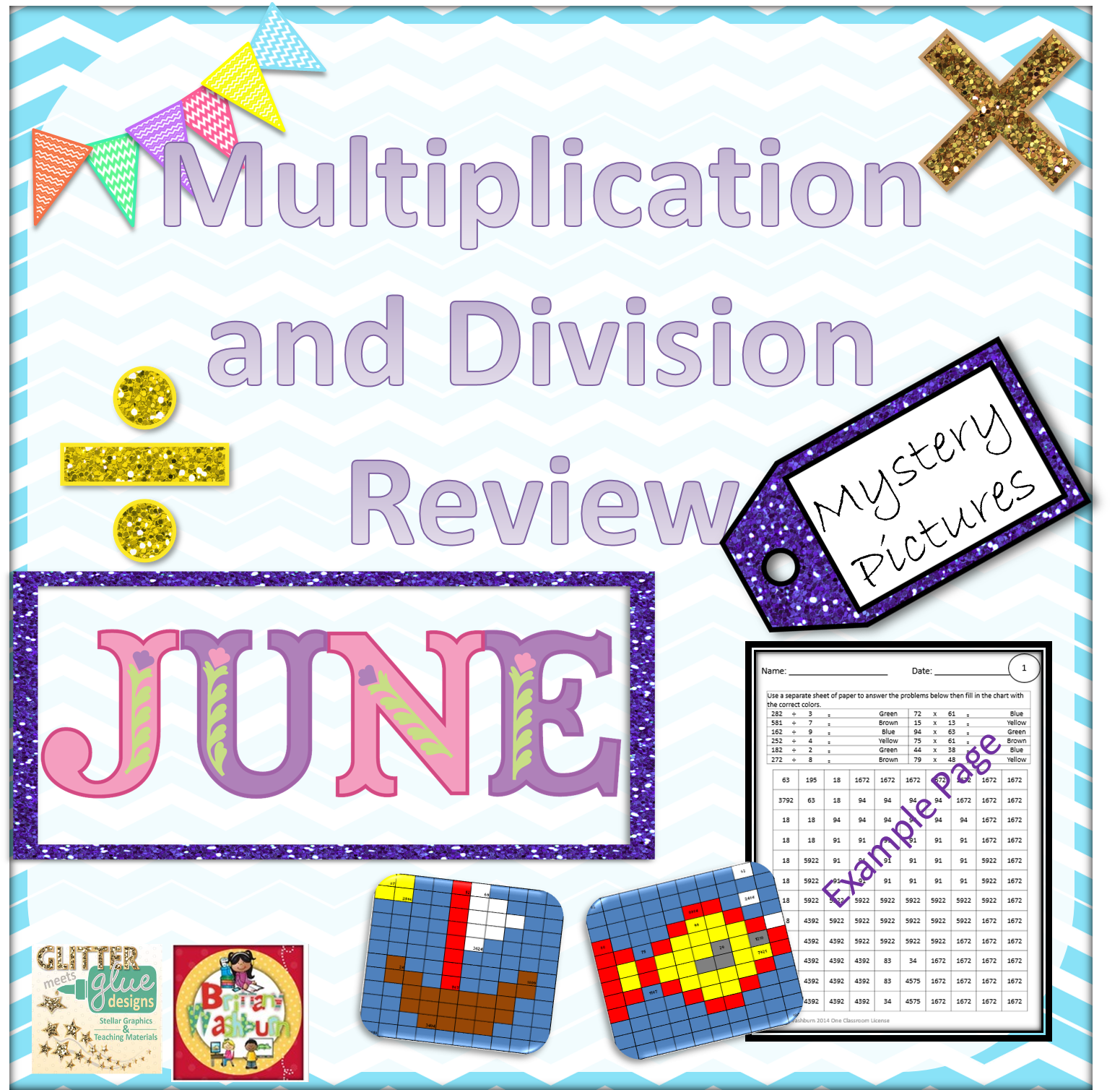 End Of Year Multiplication And Division Review Mystery
