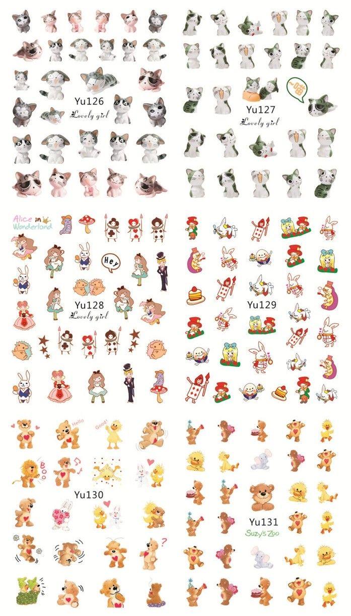 YU126-131 | Wish Nail Sticker | Pinterest | Alice