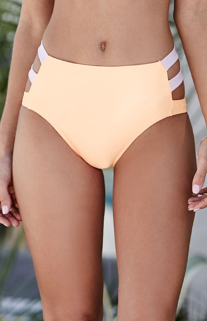 Thick Strap High Waisted Bikini Bottom  0e1d4d8d7