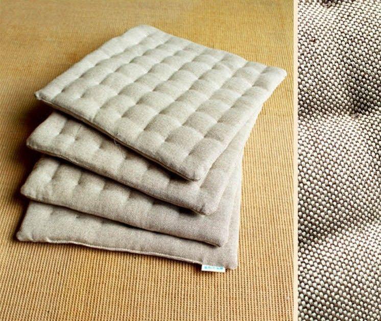 High Quality Tatami Mat Meditation Cushion Seat Cushion Burlap Fabric  Japanese Style Squishy Pillow Free Shiipping