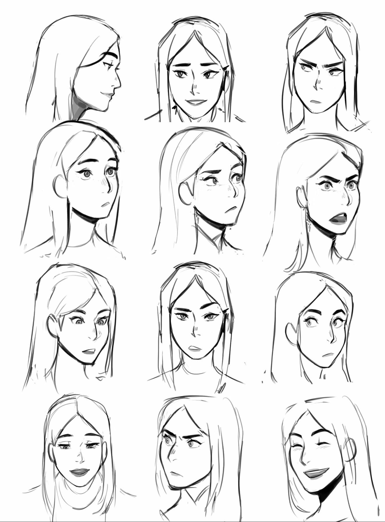 Claudia Expressions Drawing Cartoon Faces Art Reference Poses Drawing Expressions