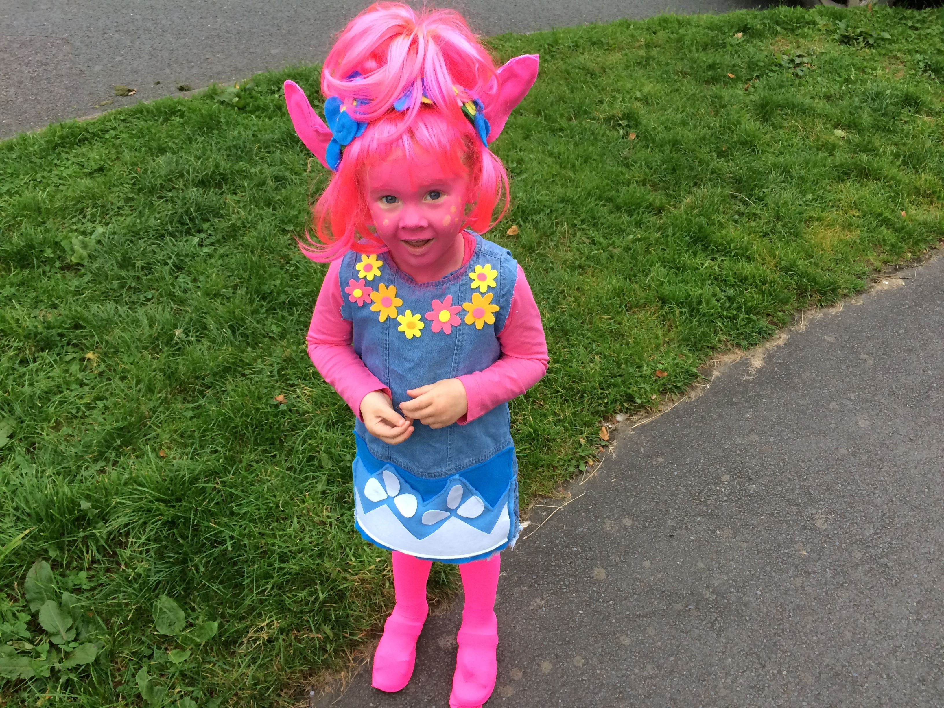 Trolls costume home made halloween costume or party for Children s halloween costume ideas