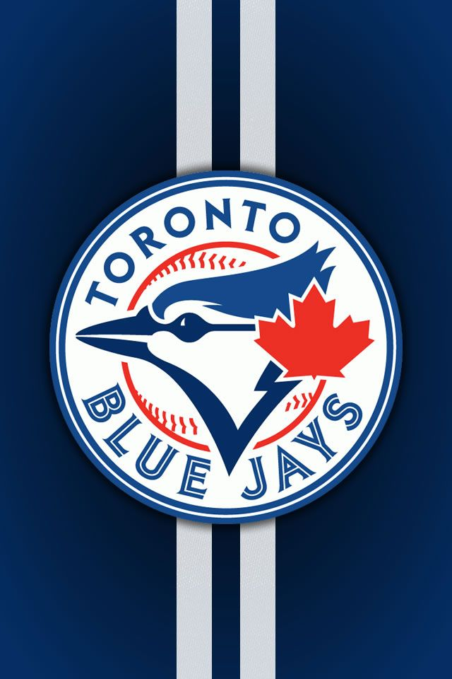 Blue Jays Logo And Stripes IPhone Wallpaper