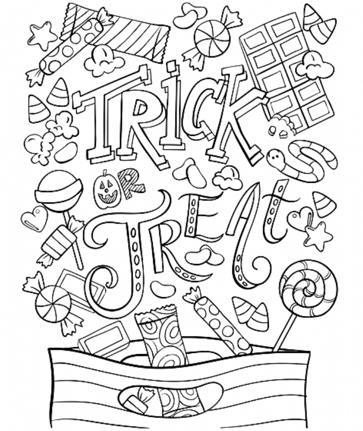 Trick Or Treat Coloring Page Crayola Com Coloring Free Halloween Coloring Pages Halloween Coloring Pages Halloween Coloring Sheets