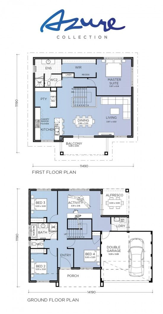 This Stylish Four Bedroom Two Bathroom Double Storey Home Is Luxurious Living At Its Fine Beach House Floor Plans House Plans Australia Two Storey House Plans