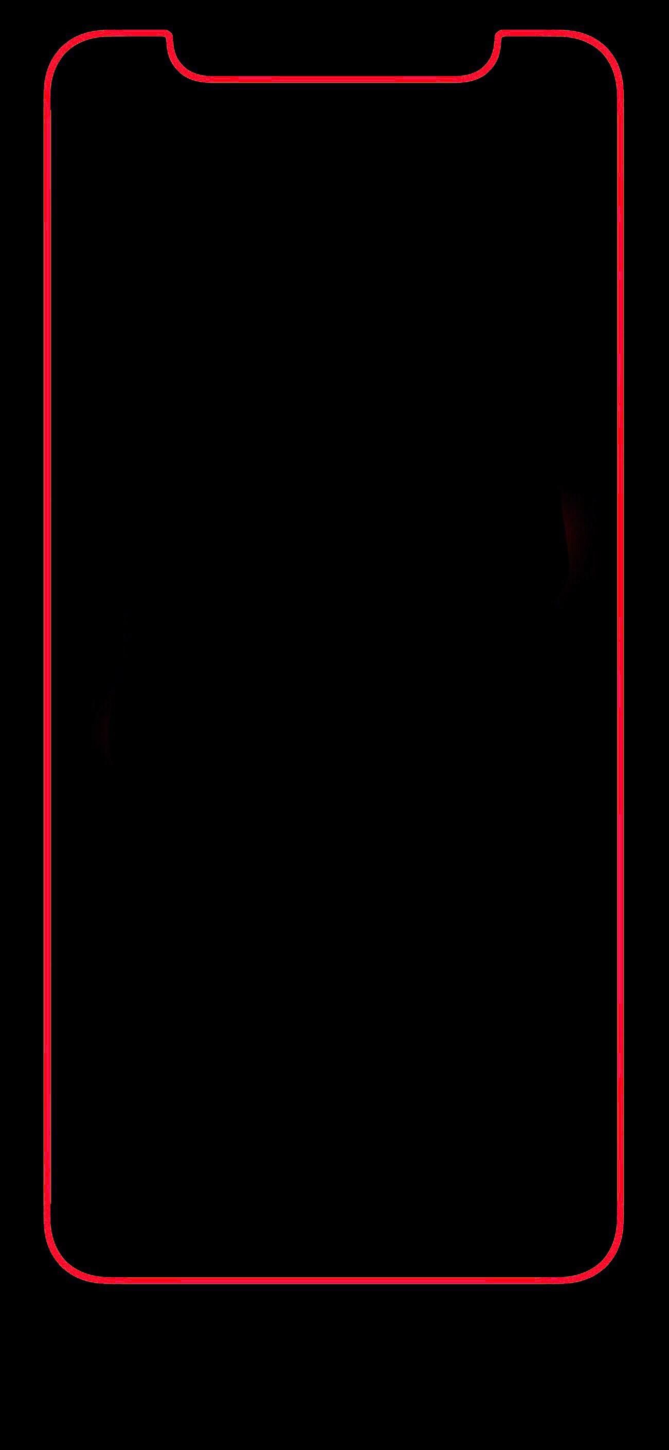 iPhone X red bold border looks great :) | iPhone Wallpaper en 2019 | Iphone red wallpaper, Black ...