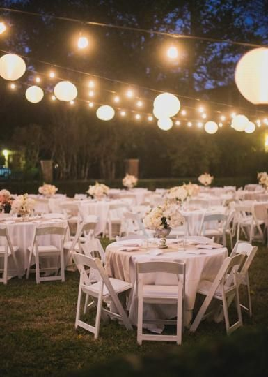 Fairytale Like Evening Wedding Reception Decor With Fl By The Garden Gate And Als From Bbj Photo Taylor Lord Photography