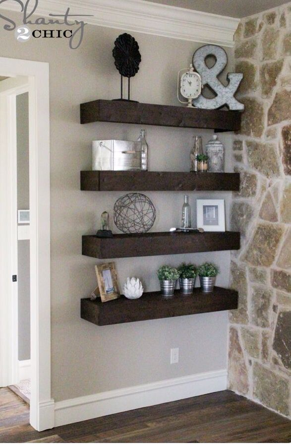 Shelves How To Decorate Living Room