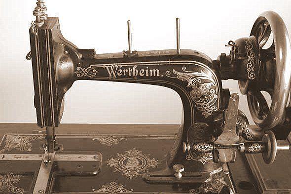 Wertheim High Arm Sewing Machine This Hand Cranked Machine Was A New Miracle Sewing Machine