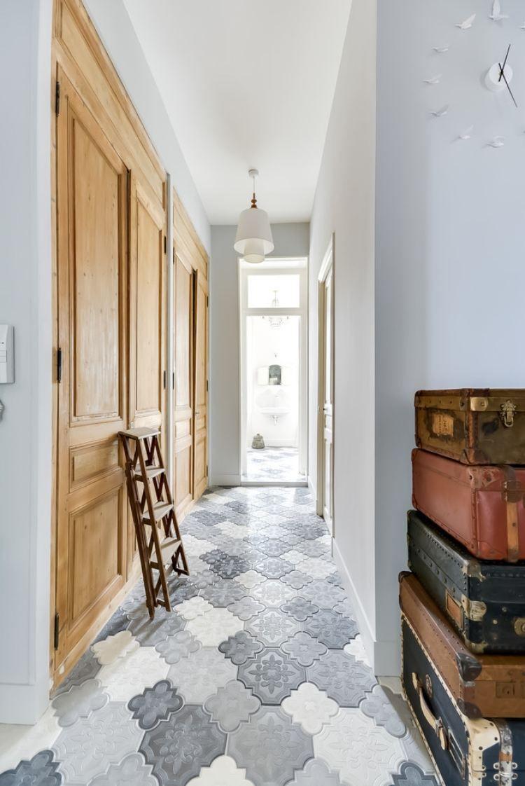 chambre, Carrelage Original Couloir Carreaux Ciment ...