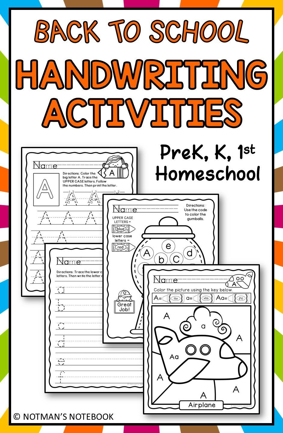 Handwriting Bundle Letters A to Z Elementary writing