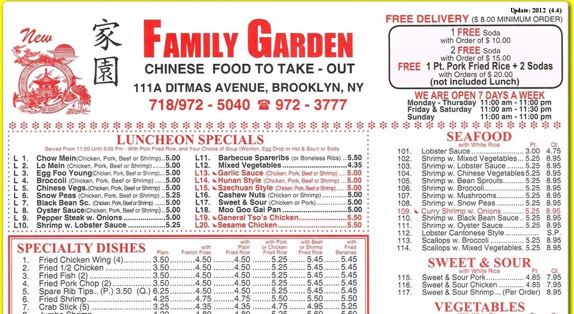 Image Result For Family Garden Menu Image Result For Family Garden Menu Image Result For Family Gard Chinese Food Delivery Order Chinese Food American Dishes