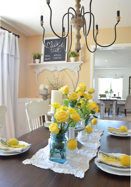 Simple Summer Dining Room Summer Dining Summer Decor Dining Table Decor