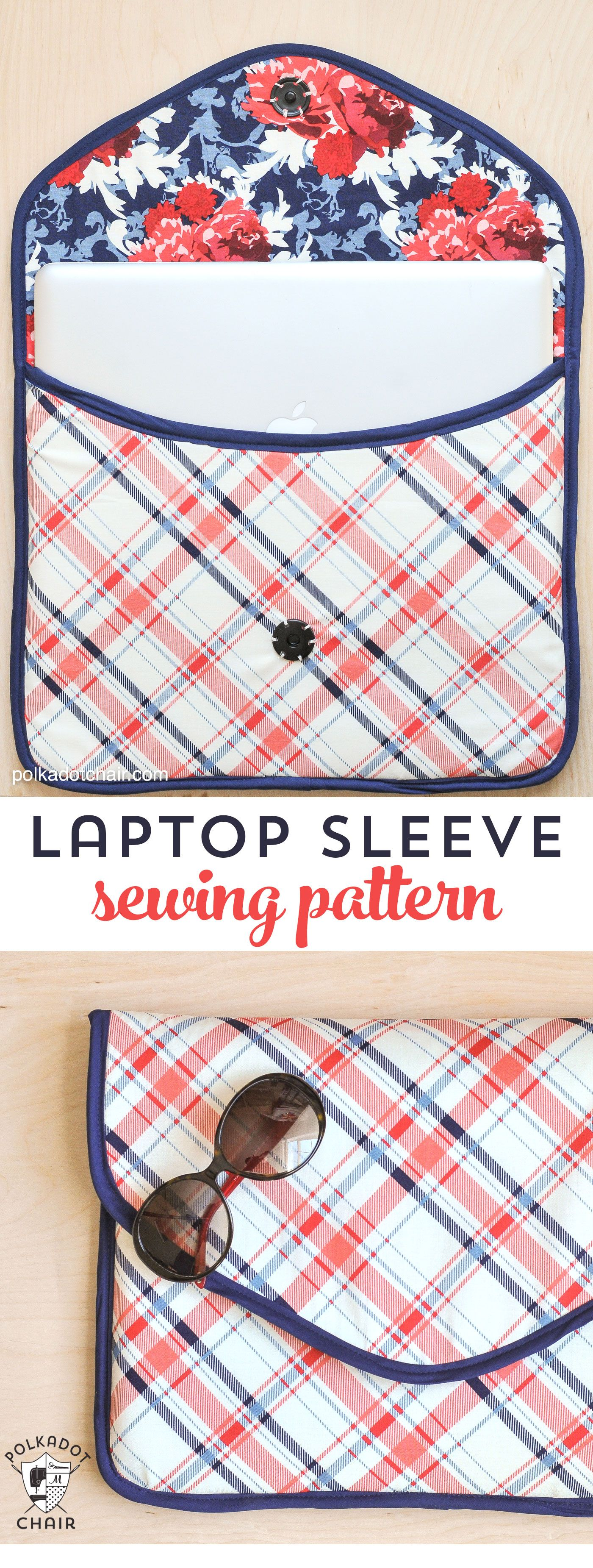 Diy laptop sleeve clutch sewing pattern on polka dot chair free padded laptop sleeve clutch sewing pattern on polkadotchair jeuxipadfo Gallery