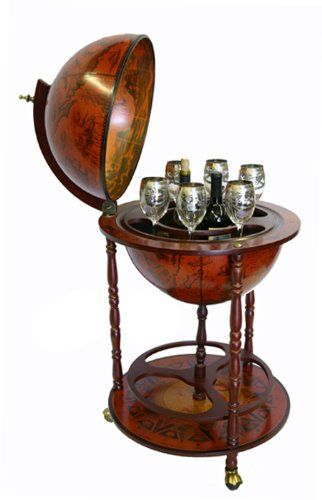 Nice Sixteenth Century Italian Replica Old World Globe Bar EcWorld,http://www