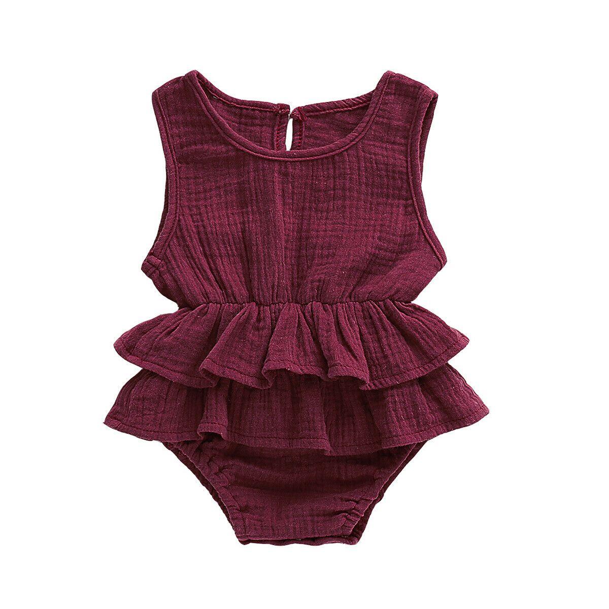 Hhchenyulemon Summer Kids Baby Girl Romper Jumpsuit Bodysuit Outfit Tutu Clothes 0 24m Walmart Com Baby Girl Summer Girls Rompers Baby Girl Outfits Summer