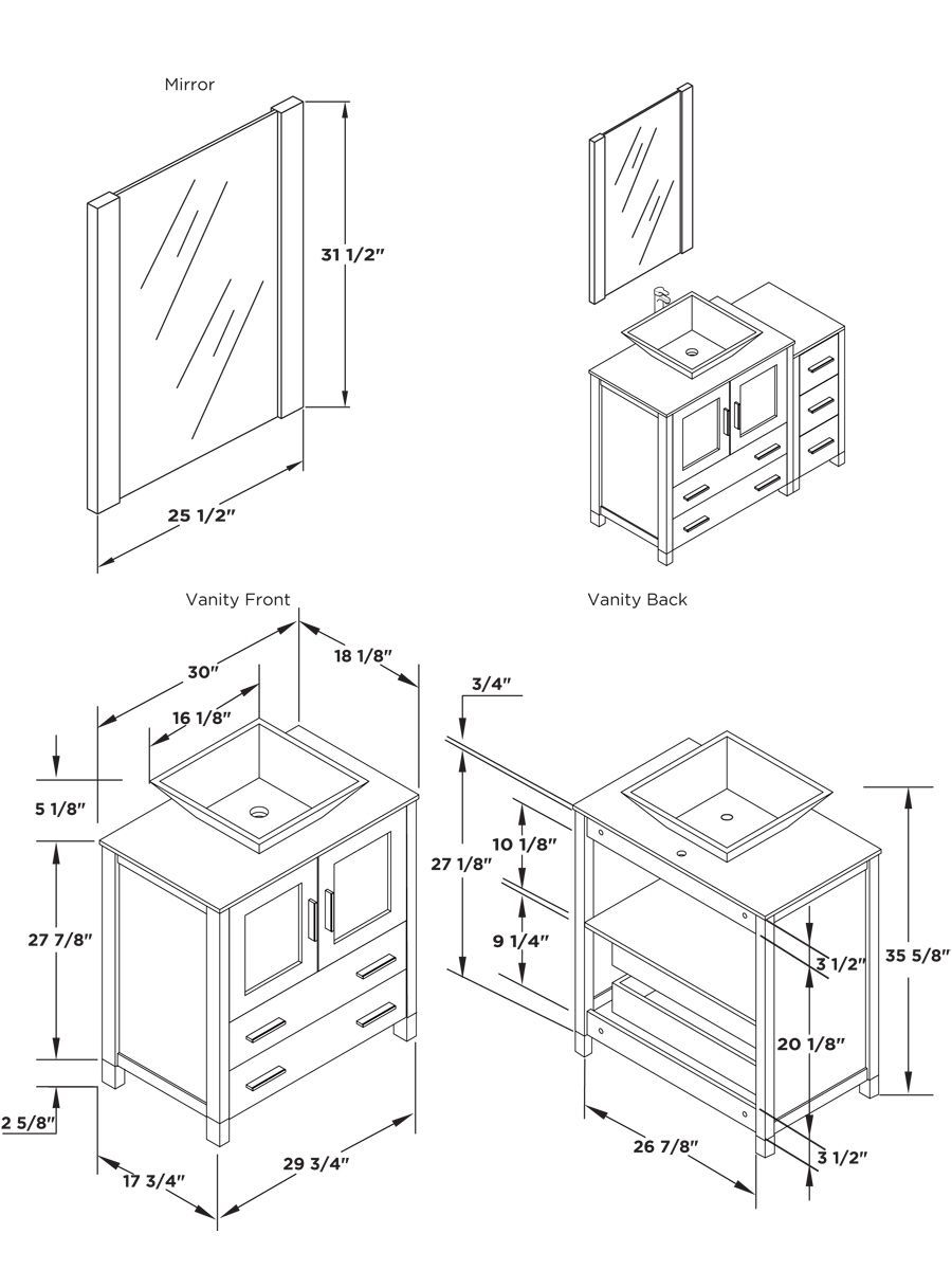 13 Awesome Ways How To Craft Standard Bathroom Vanity Size Bathroom Vanity Sizes Bathroom Dimensions Amazing Bathrooms [ 1200 x 900 Pixel ]