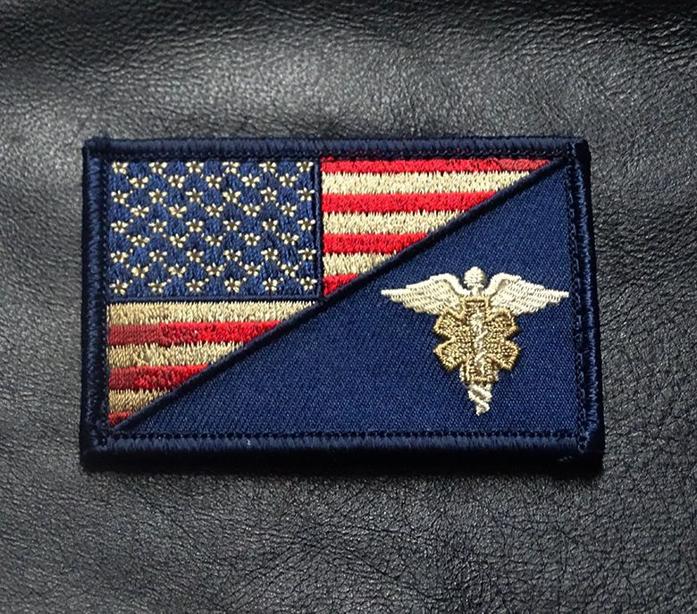Ems Medic Cross Star Emt Tactical Army Morale Airsoft 3D Rubber Hook Loop Patch#