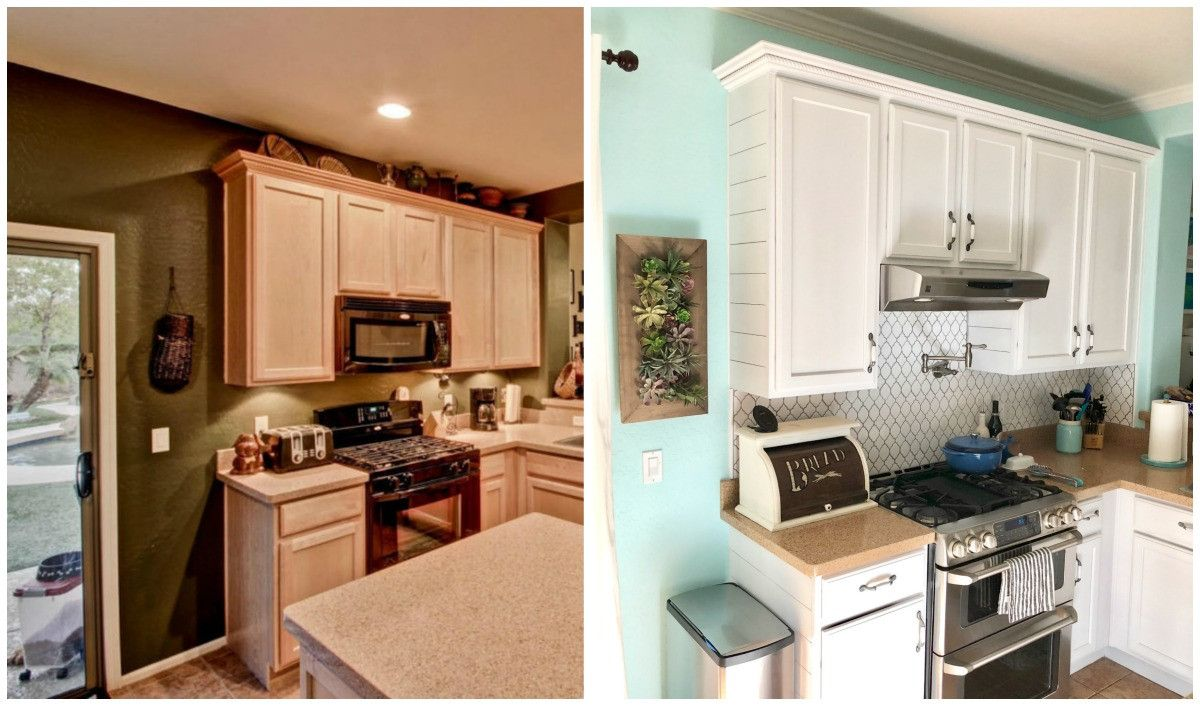 two kitchens side by side comparison in 2019 diy on behr paint comparison chart id=20528