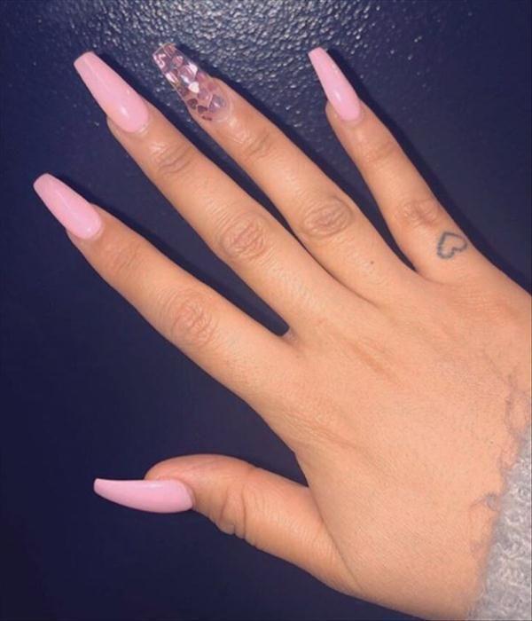 ombre pink coffin nails design, acrylic coffin nai