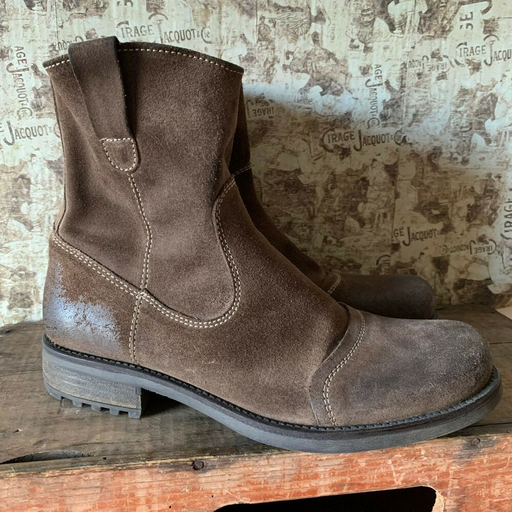 Austin Reed Uk Size 9 43 Mens Brown Suede Ankle Boots Distressed Look Trucker Austinreed Truckerstyleboots C Suede Ankle Boots Brown Suede Ankle Boots Boots
