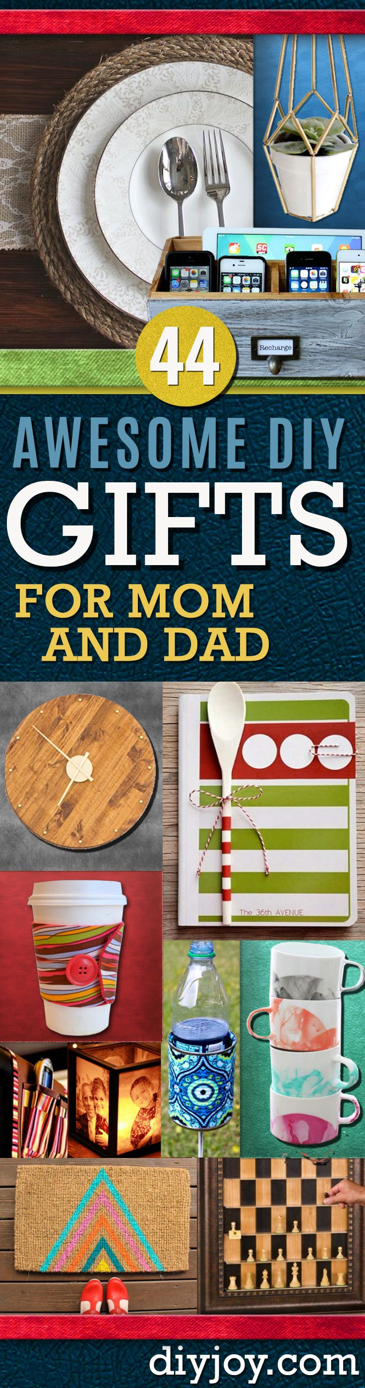 Awesome DIY Gift Ideas Mom and Dad Will Love | Homemade christmas ...