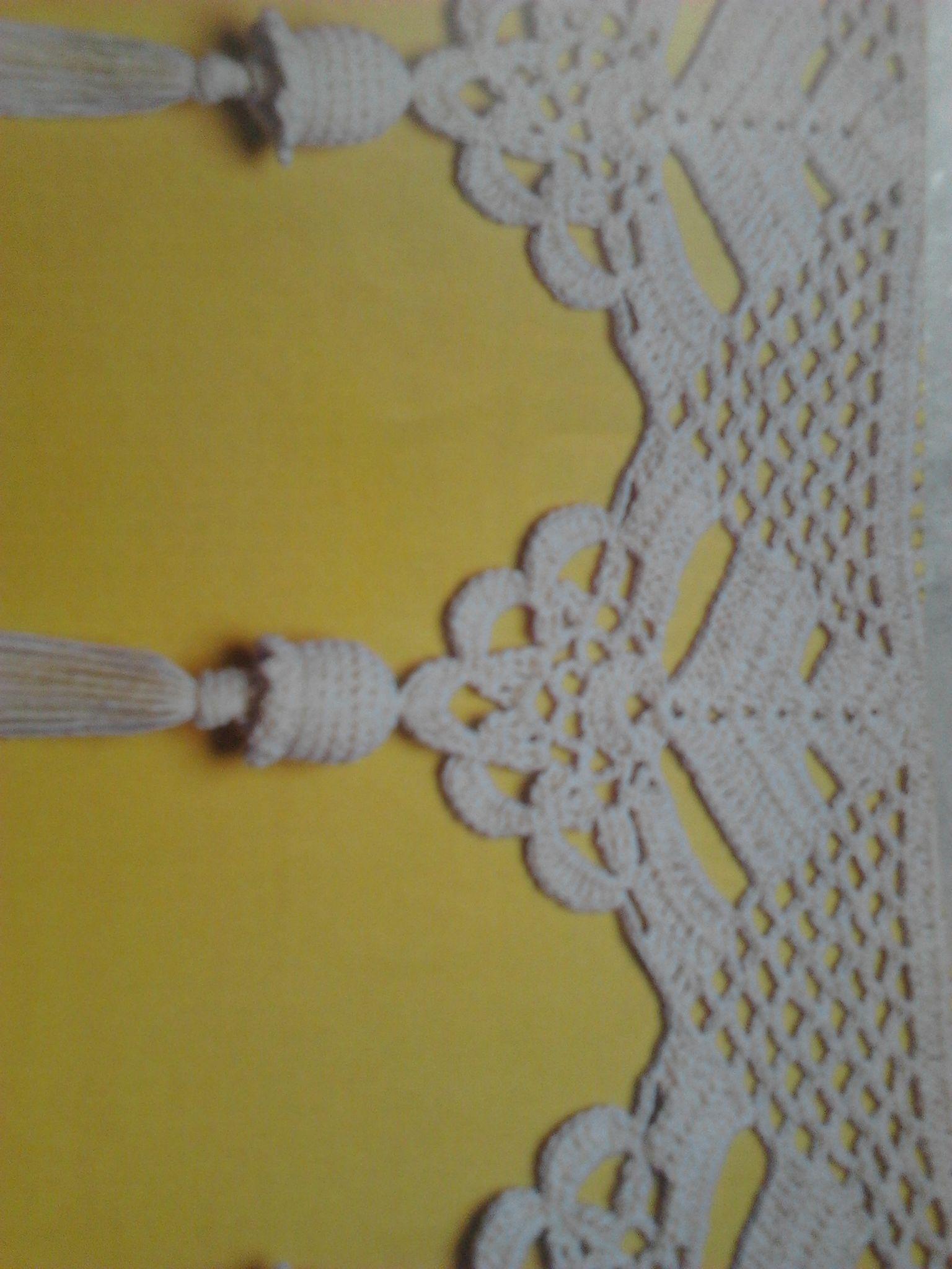 Barrados para cortinas crochet pinterest bordes de for Gancho para cortina