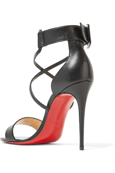 c6a8f7bffd86 Christian Louboutin - Choca 100 Leather Sandals - Black - IT40.5 ...