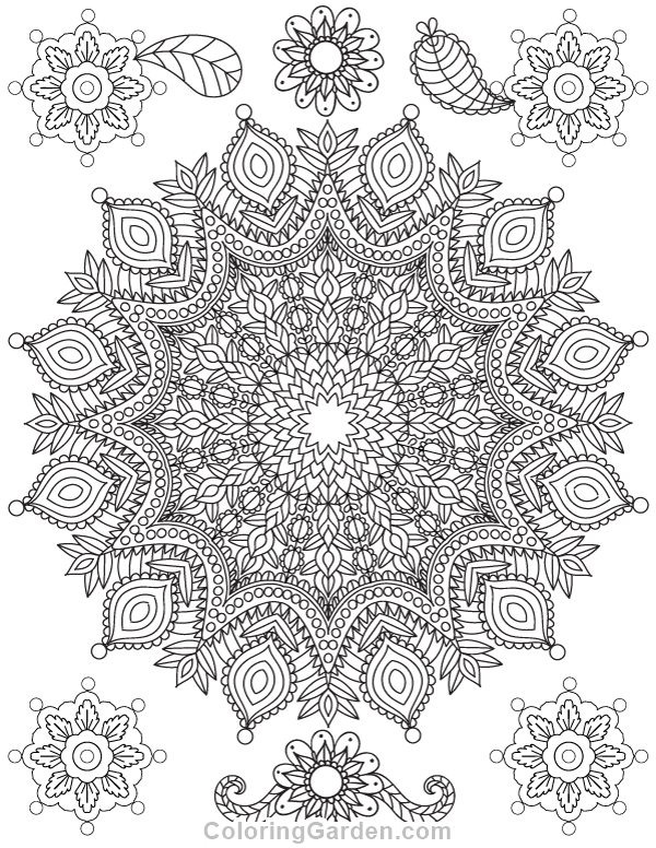 Free Printable Mandala Adult Coloring Page Download It In PDF Format At