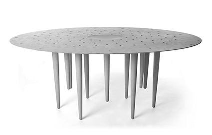 Armourcoat, a manufacturer of innovative surface finishes and sculptural effects, collaborated recently with UK furniture designer Steuart Padwick on the 'Eye of the Storm' concrete table. This highly original concept design, made from Ductal ultra-high-performance concrete (UHPC), was launched at Clerkenwell Design Week 2014 in London. Multi-award-winning designer Steuart Padwick is known for his warm, witty and sculptural furniture, with sleek lines and his trademark attention to leg…