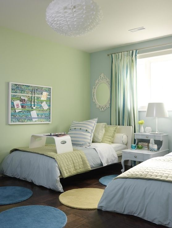 Green And Blue Kids Room, Contemporary, Boy'S Room, Ici Dulux Shy