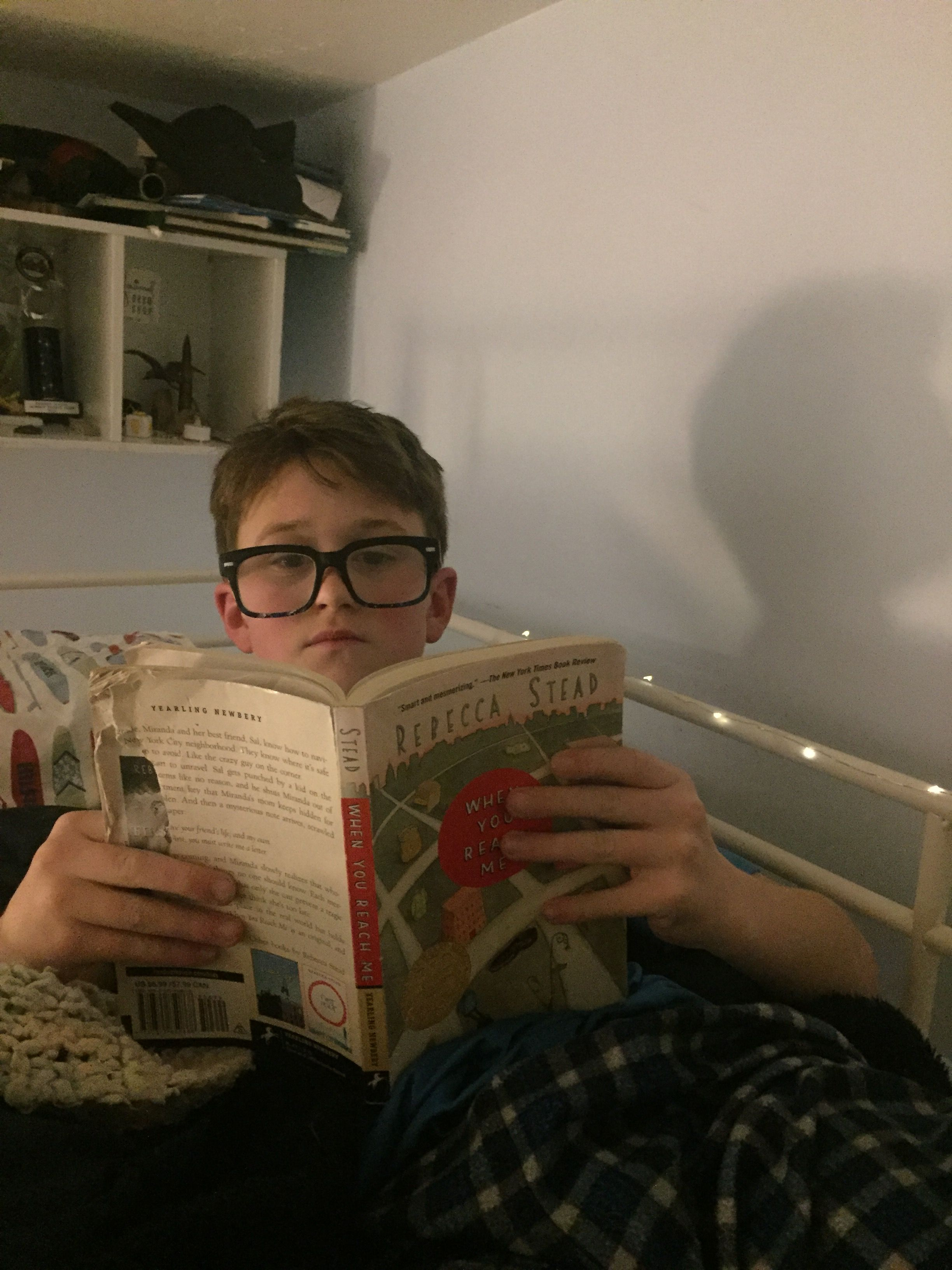 Intent- he intended to read with his new prescription