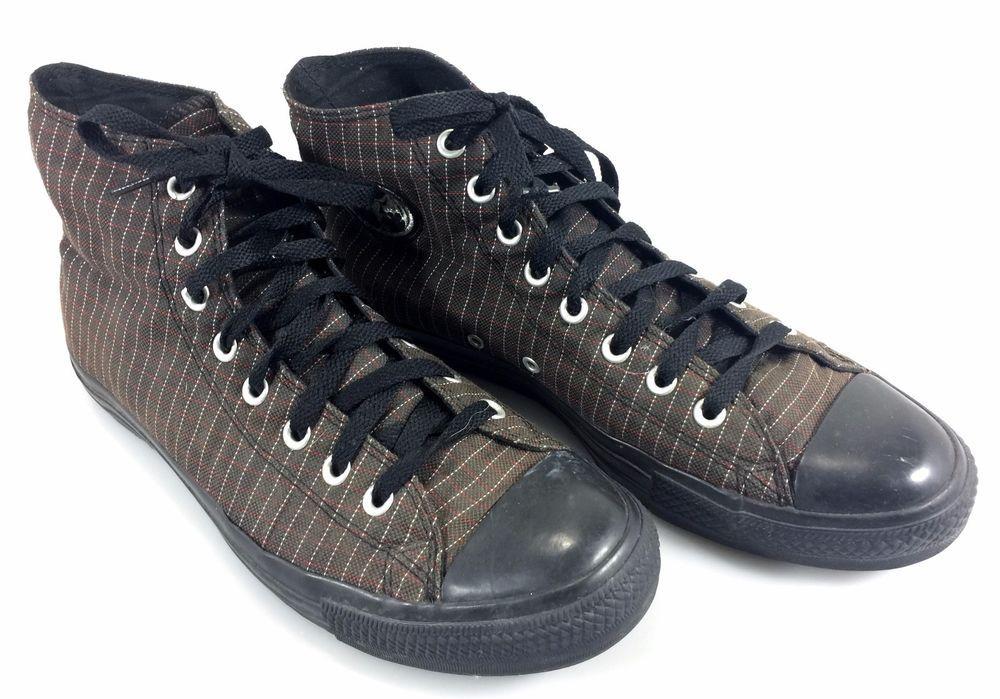 762b1843f Converse Bacardi Bat Hi Top Brown Kicks Sneakers 10 Men 12 Women Pinstripe  Shoes  Converse  FashionSneakers