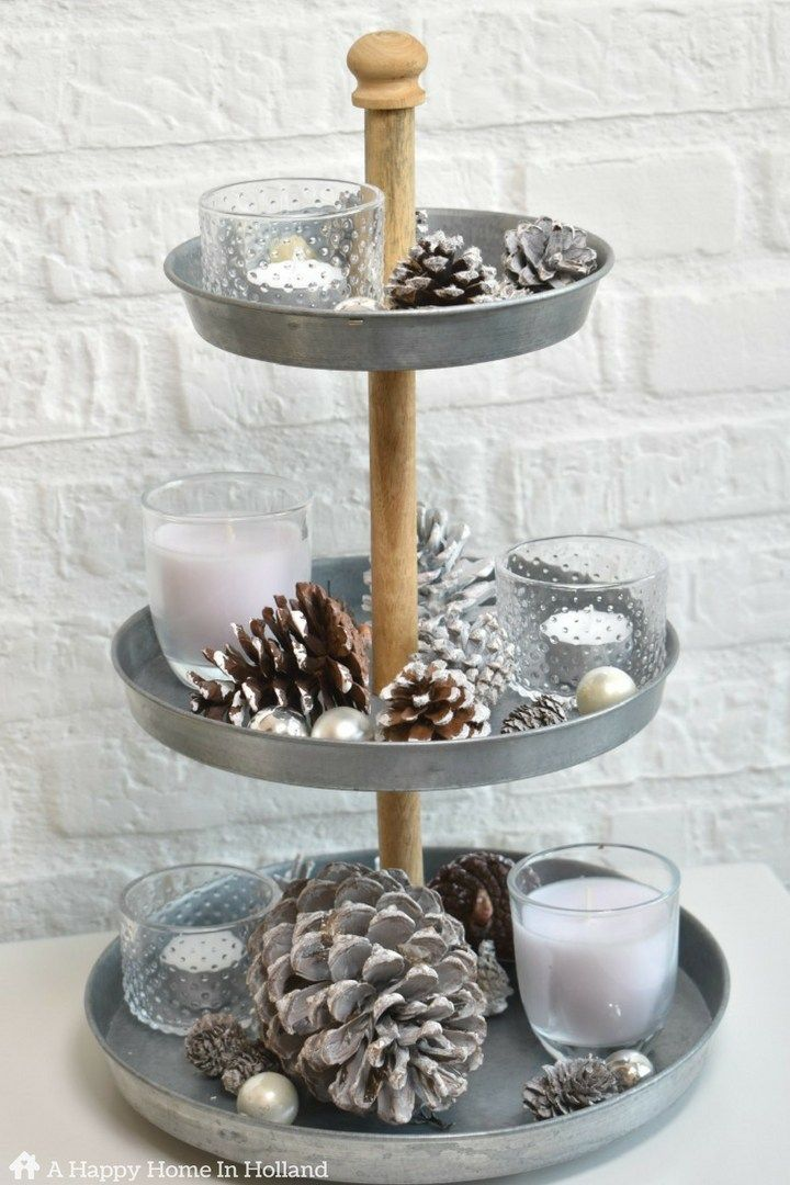 Christmas Home Tour Tray Decor Decorating Coffee Tables Winter