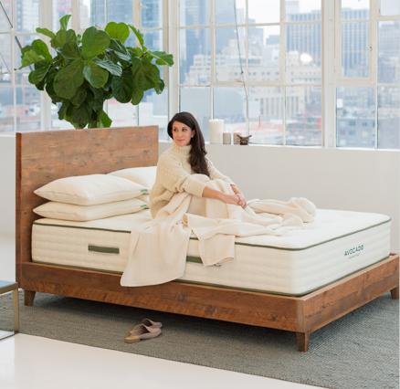 Organic Cotton Mattress Pad Protector Twin In 2020 Natural Wood Bed Wood Platform Bed Green Mattress