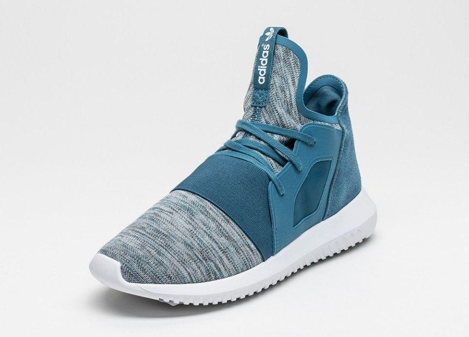 sports shoes b996e be754 Tienda de descuento adidas Tubular Defiant Mujer Blanch Azules Blanch  Azules Núcleo Blancas S75254