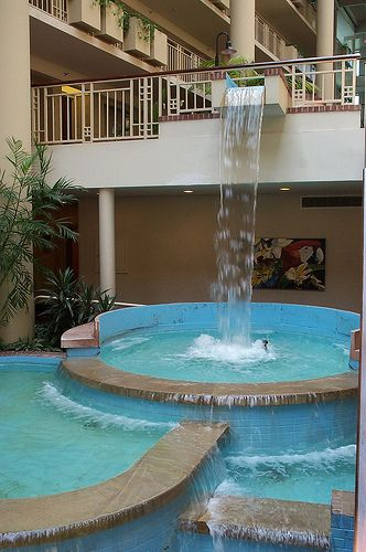 Waterfall In Hotel Lobby Indoor Water Features Hotel Hotel Lobby