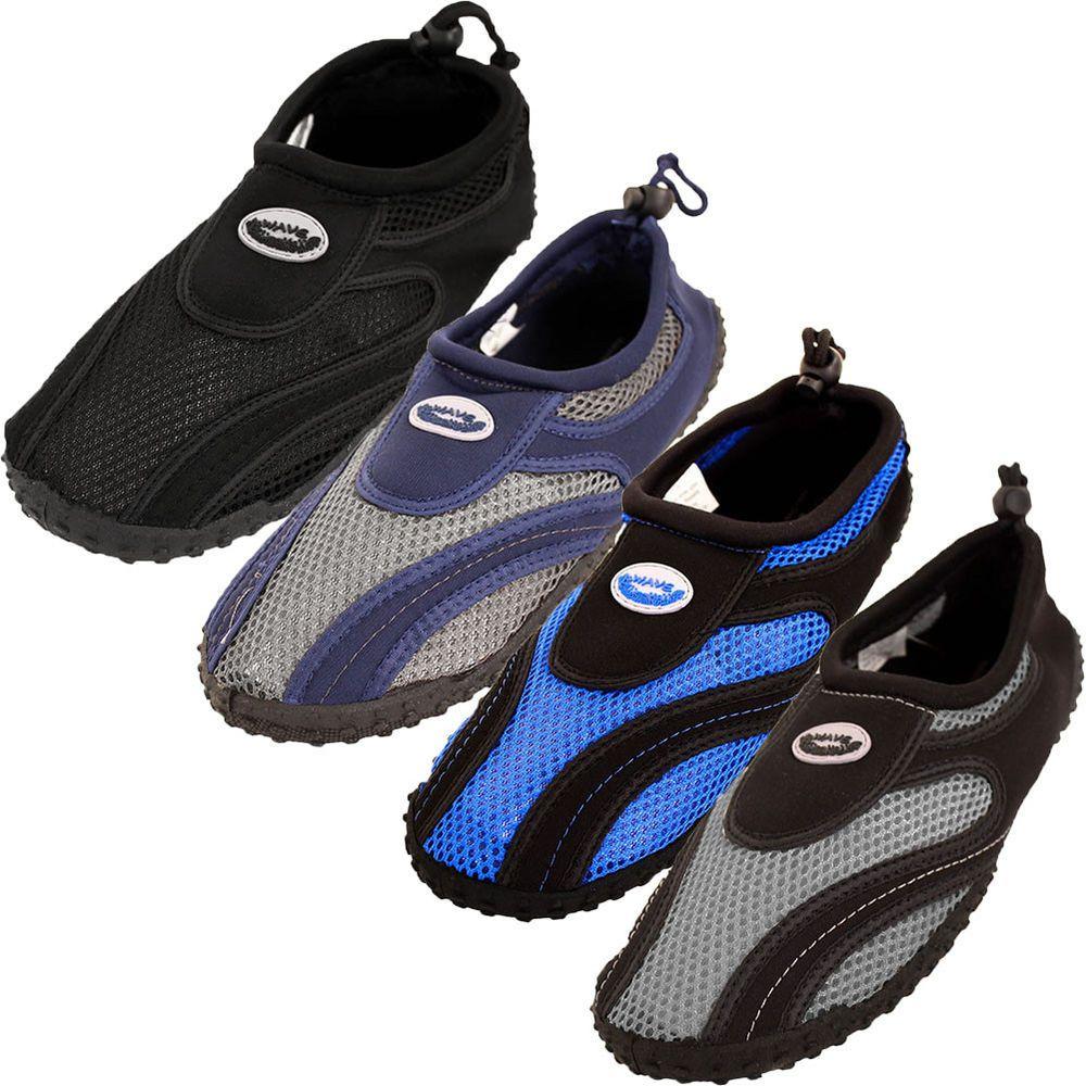 c47caf3699ba fashion Mens Water Shoes Aqua Socks Slip On Flexible Mesh Pool Beach Swim  Surf Hike Wet
