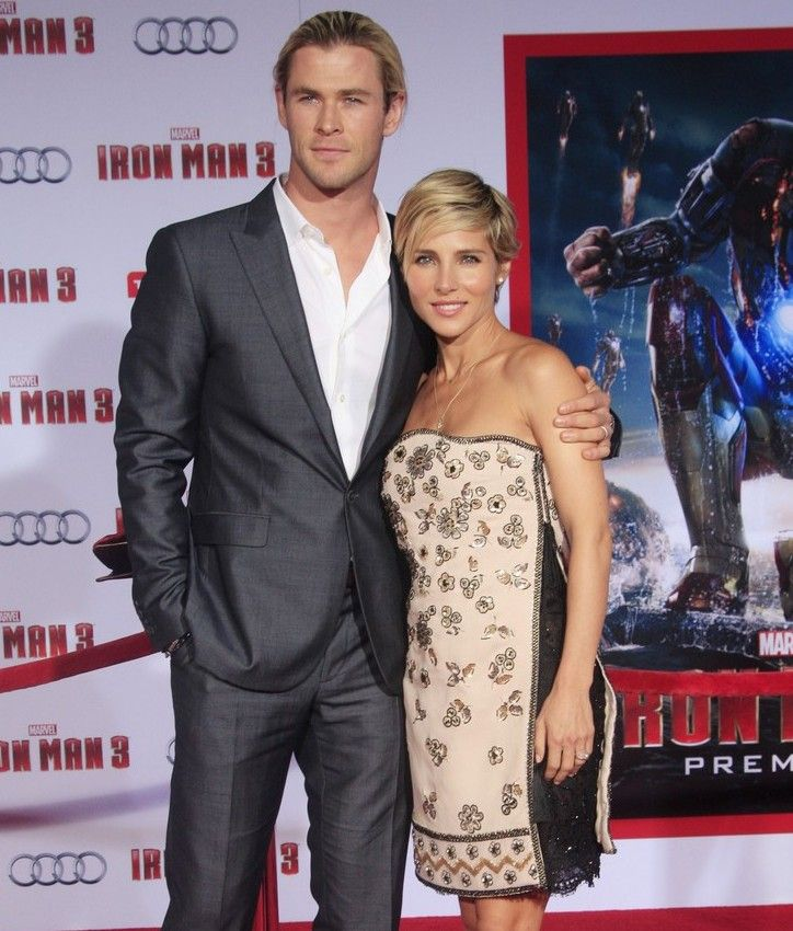 Chris Hemsworth y su esposa Elsa Pataky en la premiere de Iron Man 3 en Hollywood