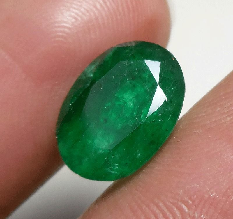 4.ct. GORGEOUS GREEN BERYL STONE OVAL CUT DESIGN RING SIZE 12X9X5 ...
