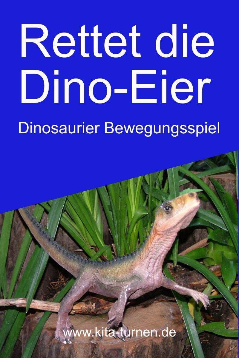 Dinosaurier Bewegungsspiel: Rettet die Dinosaurier-Eier!