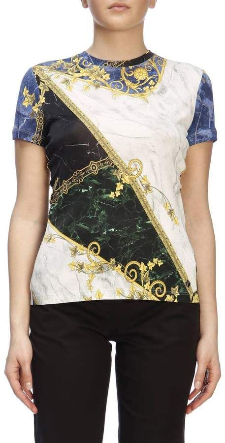 Versace T-shirt T-shirt Women | Products in 2019 | Versace t