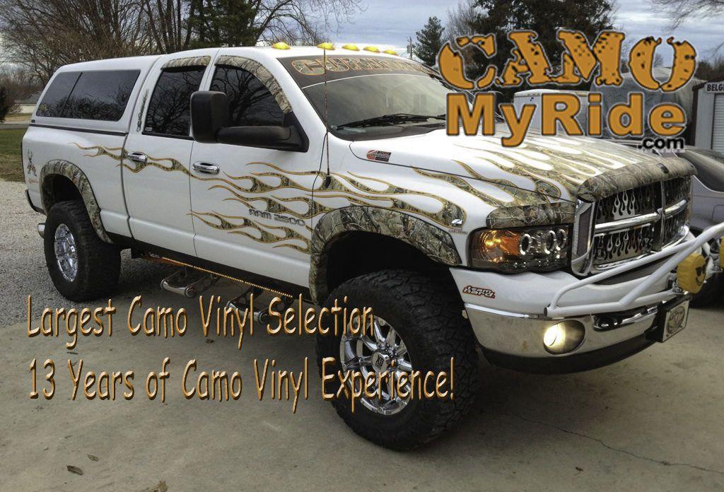Camo Flames Are No Longer Available Realtree Road Trips Camo Flames Kit Riding Camo Car Wrap