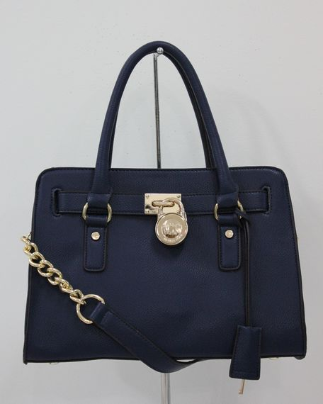 129e1f47fda6 Michael Michael Kors Hamilton Satchel Blue Gloden detail --- maybe ill  justify this little beauty if i get all a's again in my classes ;)