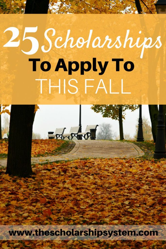 27 Scholarships To Apply For This Fall | School ...